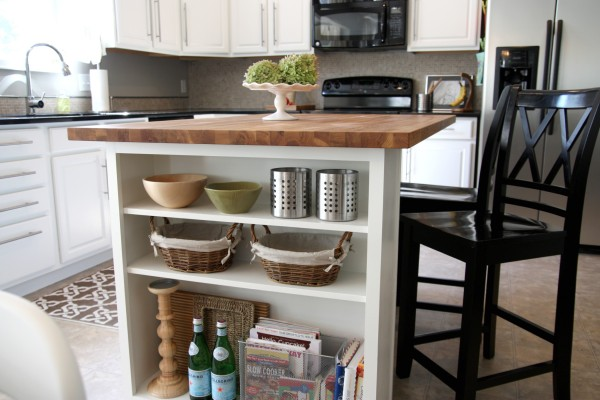 kitchen island with shelves need new reading material house tweaking 5224