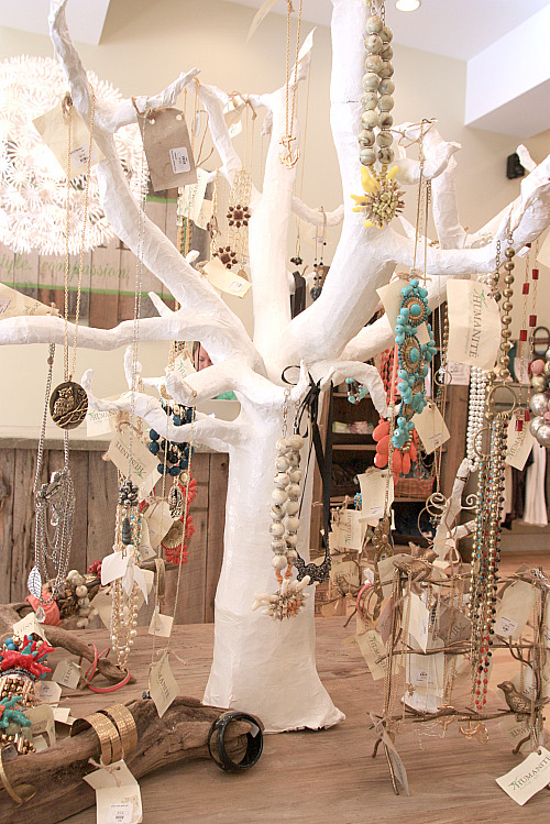 My Favorite Display Included Paper Maché Trees Dd With Jewelry