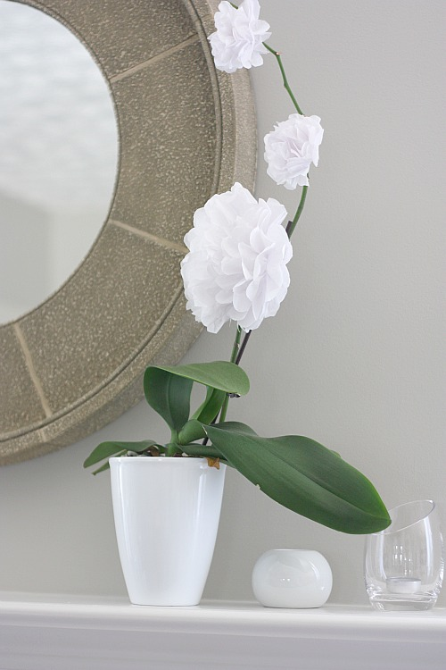 how to make tissue paper orchids