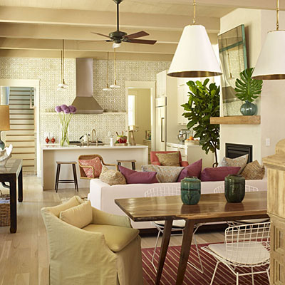 COHESIVE COLOR SCHEME SENSIBLE FURNITURE PLACEMENT MULTITASKING AREA