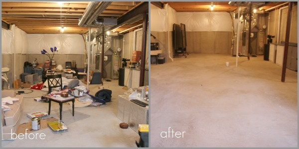 Unfinished Basement Before And After Home Design