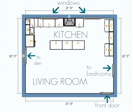 House tweaking for U kitchen dimensions