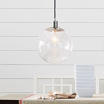House tweaking - Clear glass pendant lights for kitchen island ...