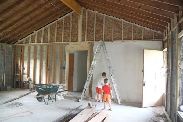no scaffolding opposite mantel