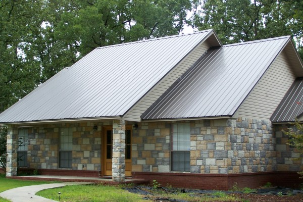 Metal Roof Gray in addition Painted Brick as well Help With Curb Appeal For This Small Home besides 1 furthermore Navy Shutters. on houses with siding and brick red