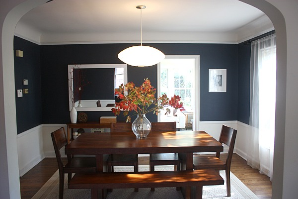 Delighful Dining Room Paint Ideas With Chair Rail Colors Within