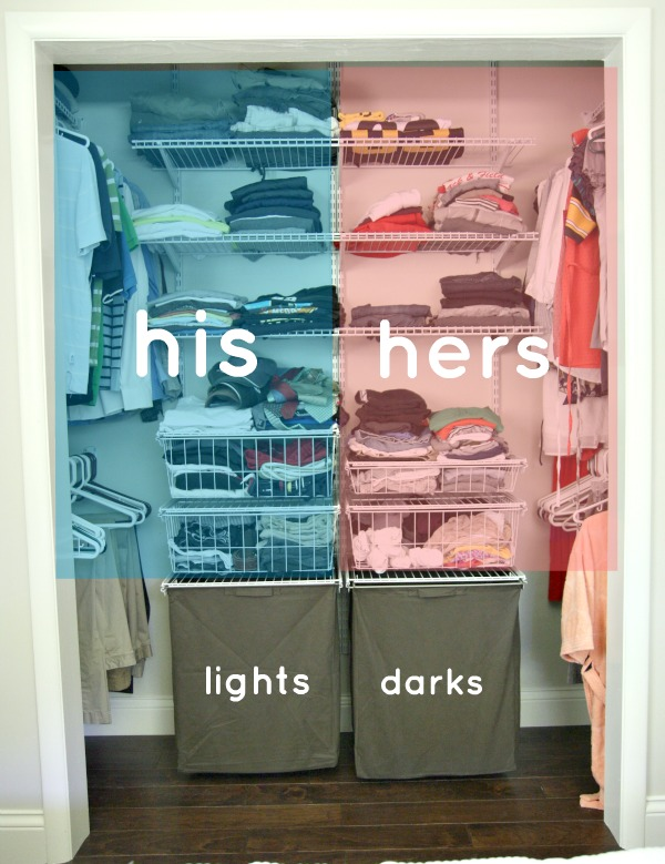 organize closet without shelves 3