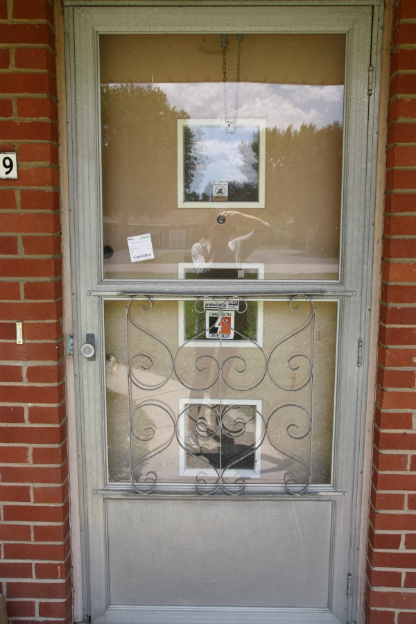 House tweaking for Front entry doors with storm door