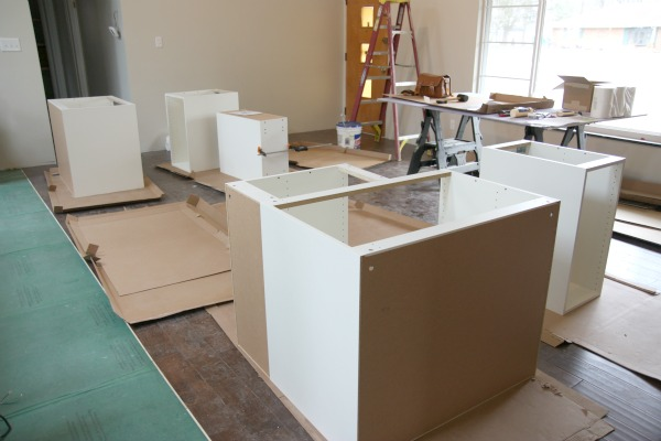HOUSE*TWEAKING How Long To Install Kitchen Cabinets on installing wall cabinets, corner to install kitchen cabinets, how design kitchen cabinets, install toe kick cabinets, installing corner cabinets, applying crown molding to cabinets, install crown molding kitchen cabinets,