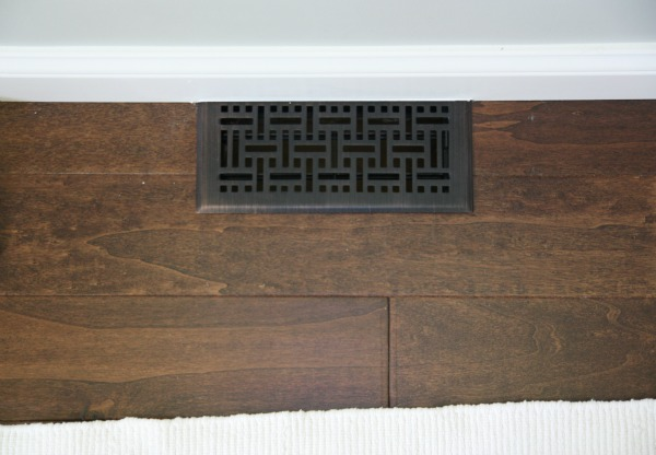 Floor registers 15 in baseboard diffusers natural finish 4 for Wood floor registers 6 x 14