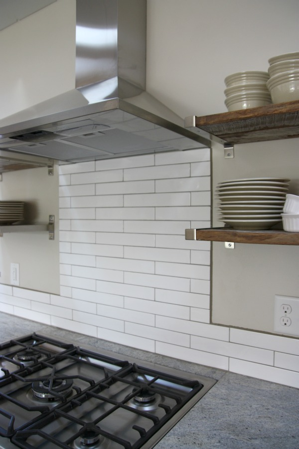 We Decided To Tile Up The Hood But Not Ceiling Because Really Didn T Want Be An In Your Face Focal Point From Adjoining
