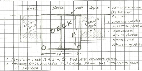 Patio Deck Plans Drawings 600 x 299