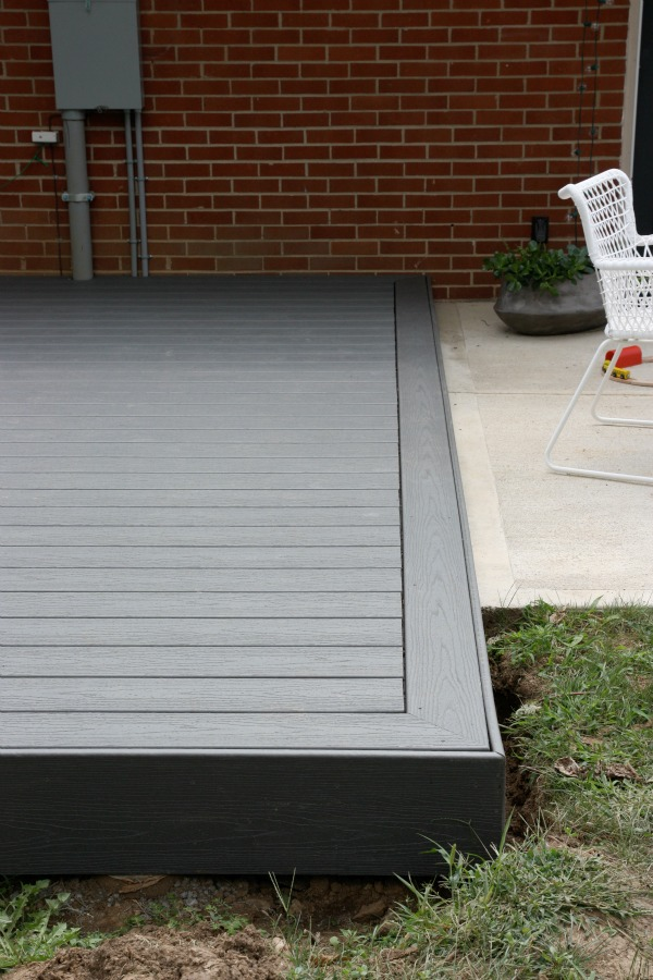 House tweaking for Grey composite decking