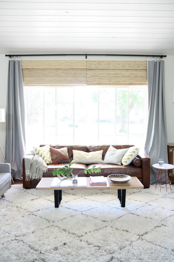 window treatment for large living room window house tweaking 27341