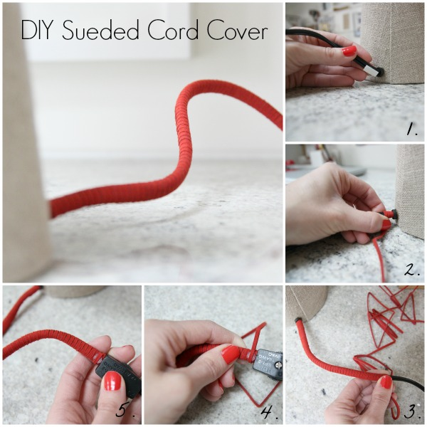 DIY cord cover collage