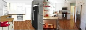 chesapeake ikea kitchen design vs final product