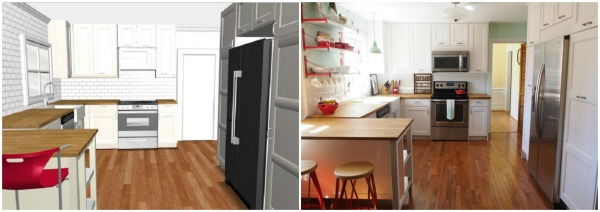 chesapeake ikea kitchen design vs final product