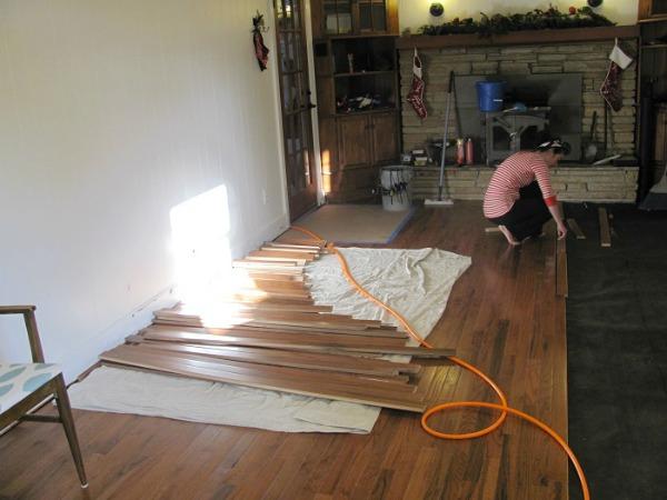 chesapeake ikea kitchen floors in progress
