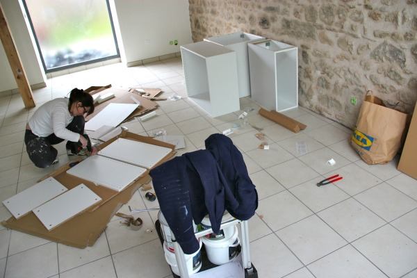 ikea barn kitchen install 1