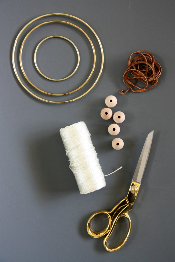 DIY dream catcher supplies