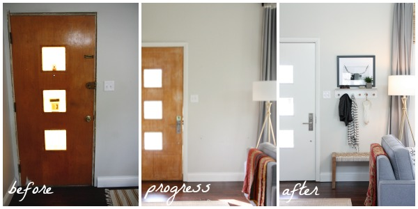 interior entry progress collage