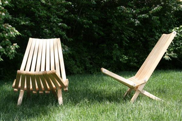 oiled slat chair