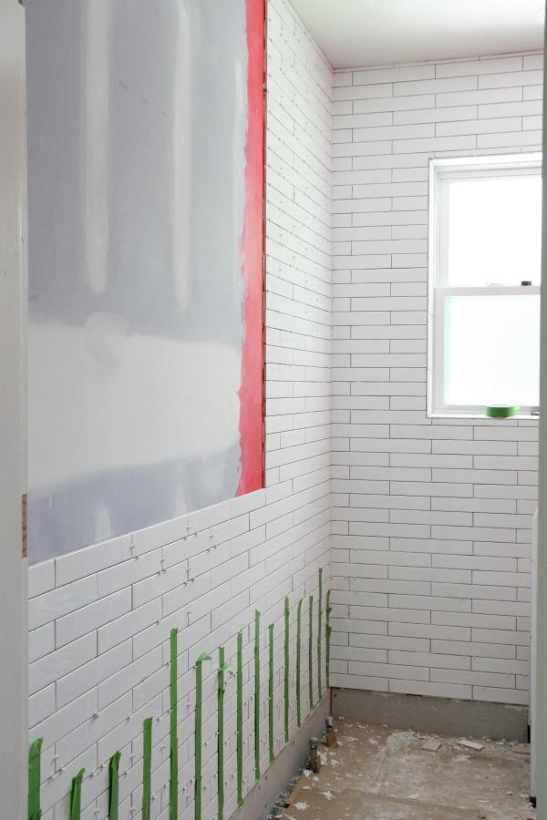 bathroom tile progress 2