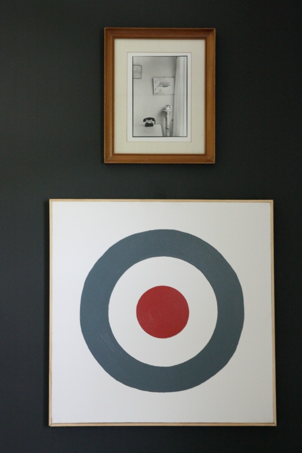 DIY bullseye art via House*Tweaking