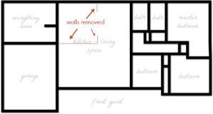 floor plan walls removed