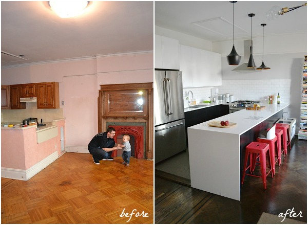 ikea brooklyn kitchen before & after