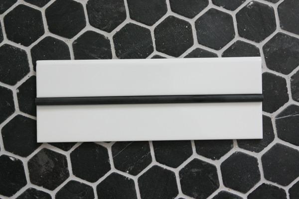 pencil liner + bullnose trim