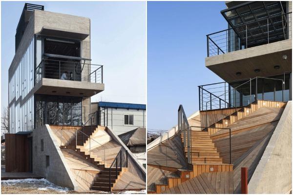zigzag stairs