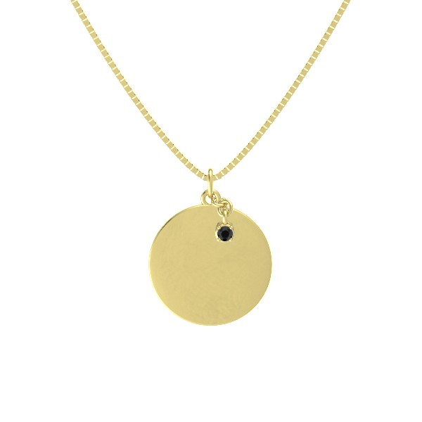 round-black-diamond-18k-yellow-gold-pendant