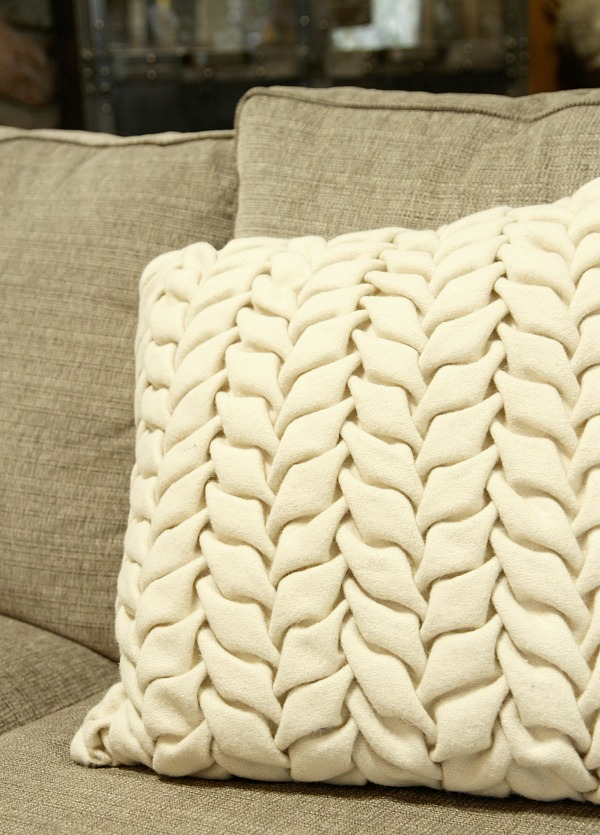 arhaus felt pillow