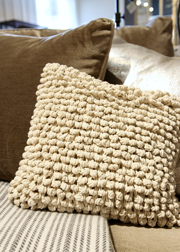 arhaus knot pillow