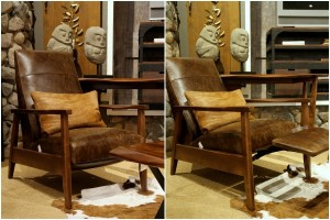arhaus wordsmith leather recliner