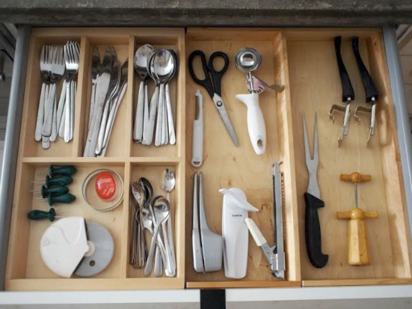 plywood ikea kitchen organization