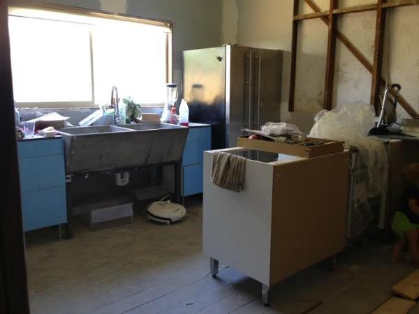 plywood ikea kitchen progress 1