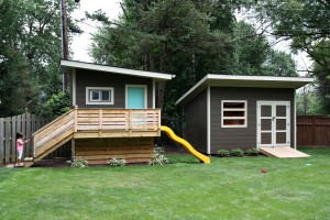 modern playhouse and shed 2