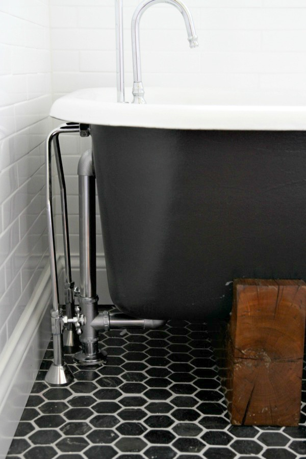 Shower hook up for clawfoot tub