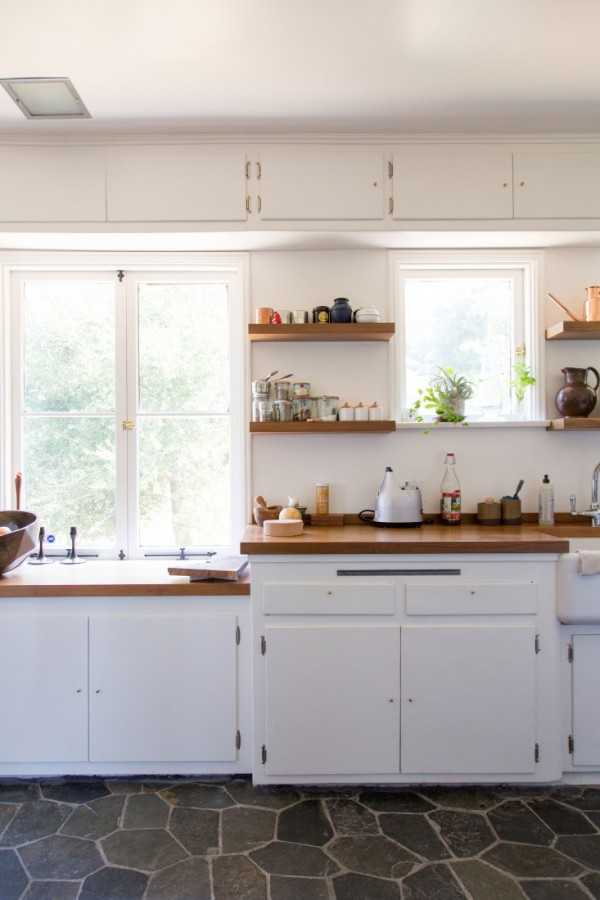 organic midcentury kitchen