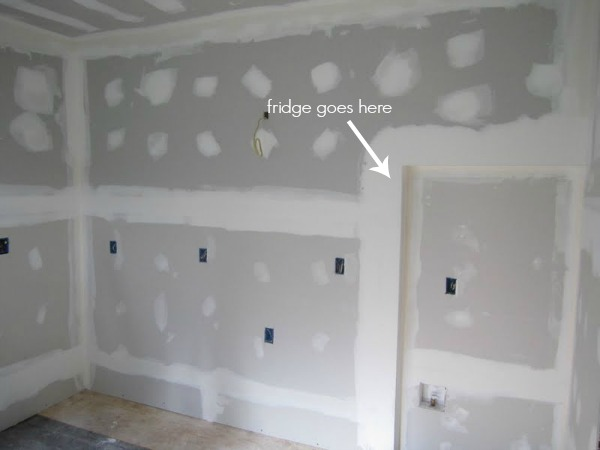 kitchen progress drywall