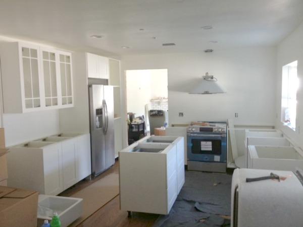 LA ikea kitchen progress
