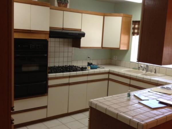 LA ikea kitchen before 2