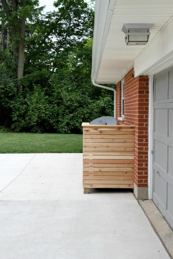 DIY trash enclosure 1