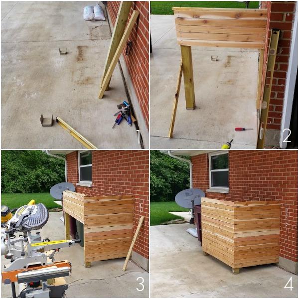 DIY trash enclosure steps
