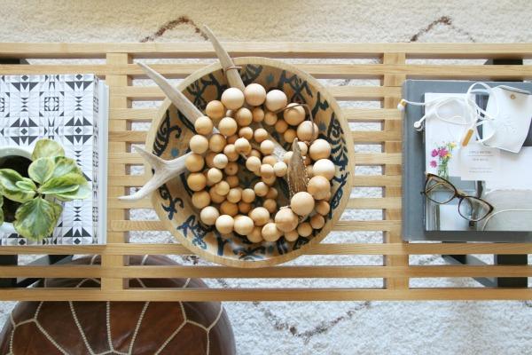 wood bead strand 12