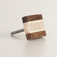 wood and resin knob